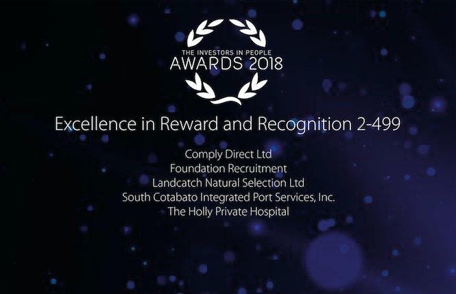Finalist badge for Investors in People Awards