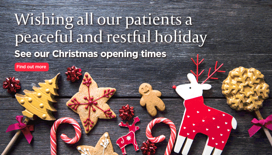 Wishing our patients a peaceful and restful holiday